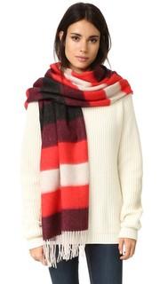 Ворсованный шарф-накидка с полосками Rag & Bone