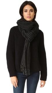 Ворсованный шарф с тонкими полосками Rag & Bone