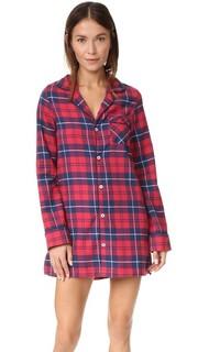 Фланелевая ночная рубашка Audrey Three J NYC