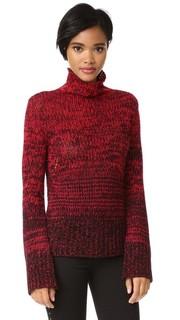 Кашемировый свитер с воротником под горло с эффектом «омбре» Zadig & Voltaire