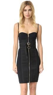 Платье-бюстье в стиле милитари Dsquared2