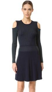Трикотажное платье с длинными рукавами Versace