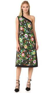 Миди-платье с вышитой вставкой Victoria Victoria Beckham