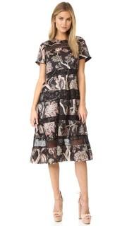 Роскошное миди-платье Bell Zimmermann