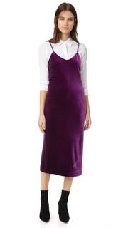 Бархатное платье-комбинация Yoshi Rebecca Minkoff