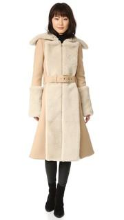 Пальто Double с отделкой короткой шерстью Gareth Pugh