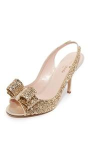Покрытые блестками сандалии Charm с ремешком на пятке Kate Spade New York