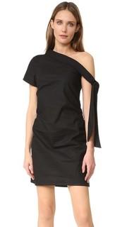 Асимметричное платье с завязками MLM Label
