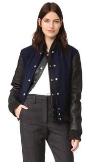 Куртка с двухслойной планкой в студенческом стиле Oak