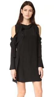 Платье с длинными рукавами и открытыми плечами 3.1 Phillip Lim