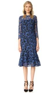 Двухцветное кружевное платье Shoshanna