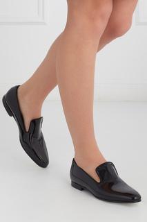 Ботинки из лакированной кожи Loafer Hugo Boss