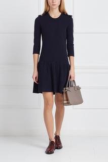 Платье из хлопка и шелка Burberry