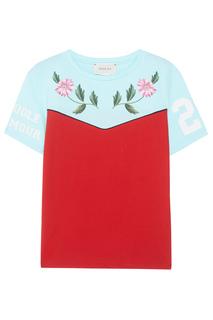 Хлопковая футболка Gucci Children