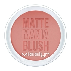 MISSLYN Матовые румяна Matte Mania Blush № 15 Beauty in Boots 6 г