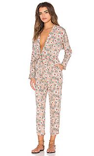 Женский брючный костюм с длинным  рукавом и завязкой спереди - Lucca Couture