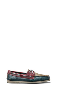 Мокасины a/o white wash с двумя глазками - Sperry Top-Sider