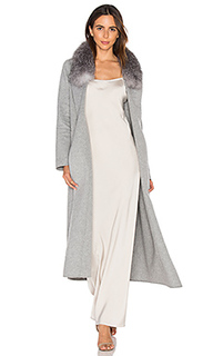 Daphne coat with silver fox fur trim - Soia & Kyo