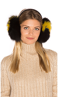 Janine artic fox fur ear muff - Eugenia Kim