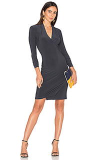 Long sleeve modern side drape dress - Norma Kamali