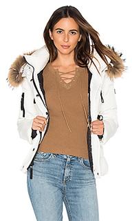 Куртка с мехом из азиатского енота matte decade - SAM.