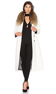Пальто с отделкой мехом азиатского енота chanelle - Soia & Kyo