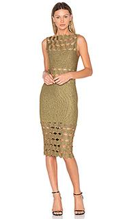 Миди-платье с вырезом helena - LOLITTA