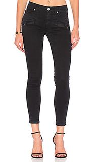Укороченные супер узкие джинсы средней посадки roe - Hudson Jeans