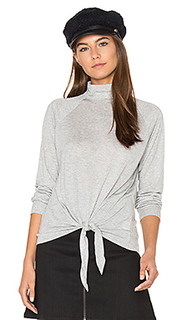 Front tie turtleneck top - Lanston