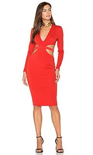 Платье с глубоким вырезом и длинным рукавом trixie - BEC&BRIDGE Bec&Bridge