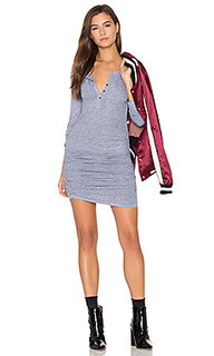 Ruched henley dress - Lanston