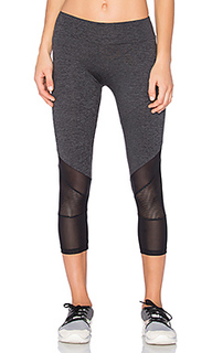 Sport mesh combo crop leggings - Lanston