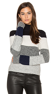 Calais v back striped sweater - Equipment