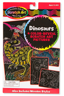 Scrach art Динозавры Melissa & Doug