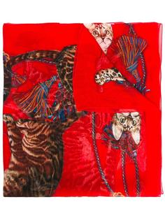 шарф с принтом котов  Dolce & Gabbana