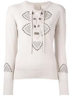 свитер с заклепками Laneus