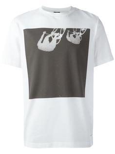 футболка с принтом велосипедистов Ps By Paul Smith