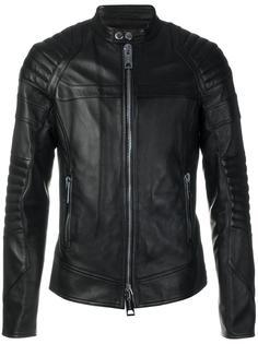 байкерская куртка на молнии  Les Hommes