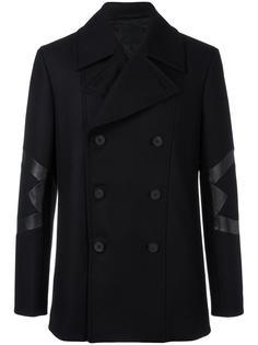 двубортное пальто  Les Hommes