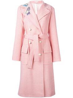 двубортное пальто с поясом Olympia Le-Tan