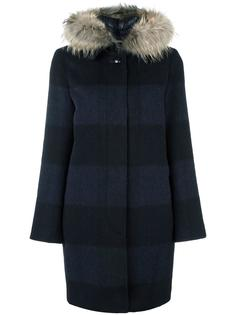пальто с меховым воротником Woolrich
