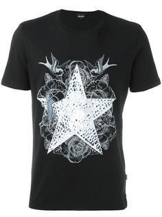 футболка с принтом звезды Just Cavalli