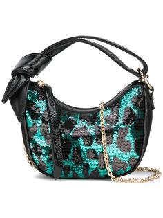 сумка на плечо с леопардовым принтом Borbonese