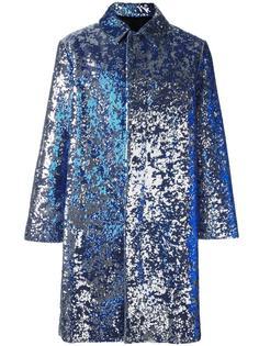 однобортное пальто с пайетками Ami Alexandre Mattiussi