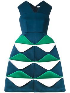 структурированное жаккардовое платье Delpozo