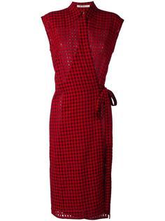 платье в клетку гингем T By Alexander Wang