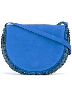 полукруглая сумка с отделкой из кольчуги Paco Rabanne