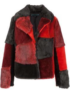 меховая куртка с лоскутным дизайном Jocelyn