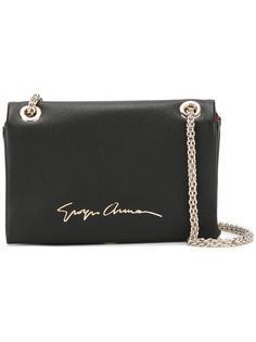 сумка через плечо с принтом-логотипом Giorgio Armani