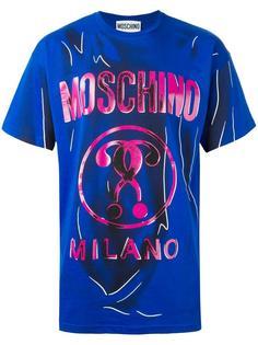 футболка с принтом-обманкой Moschino